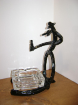 Cowboy ashtray holder