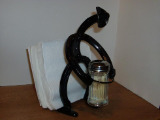 Horseshoe Cowboy napkin and toothpick holder