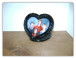 Single heart shaped picture frame.