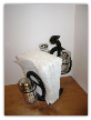 Horseshoe Cowboy Salt/Pepper and napkin holder