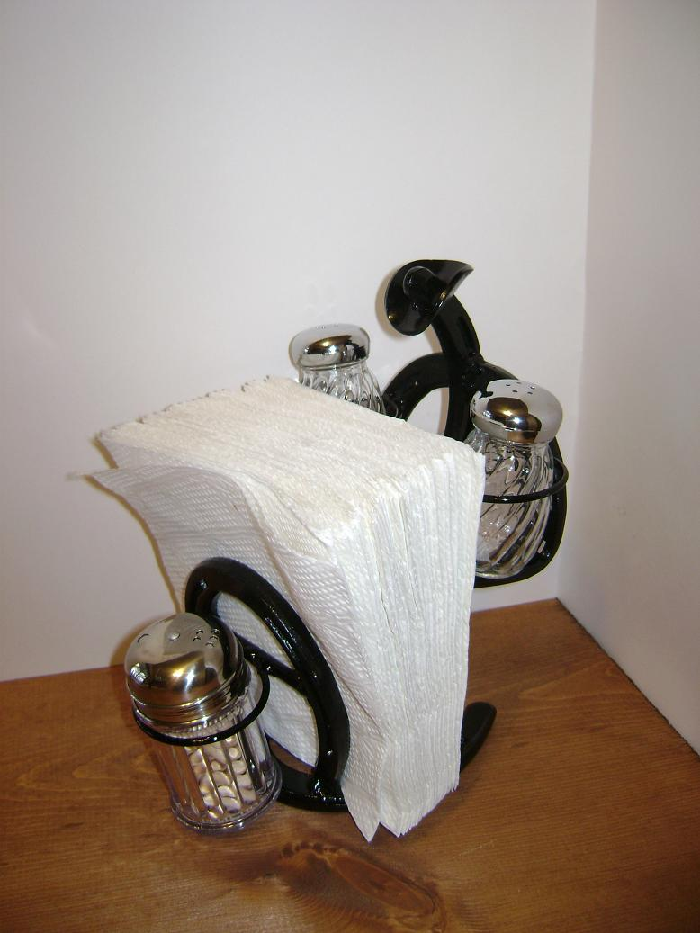 Horseshoe Cowboy Salt/Pepper and napkin holder