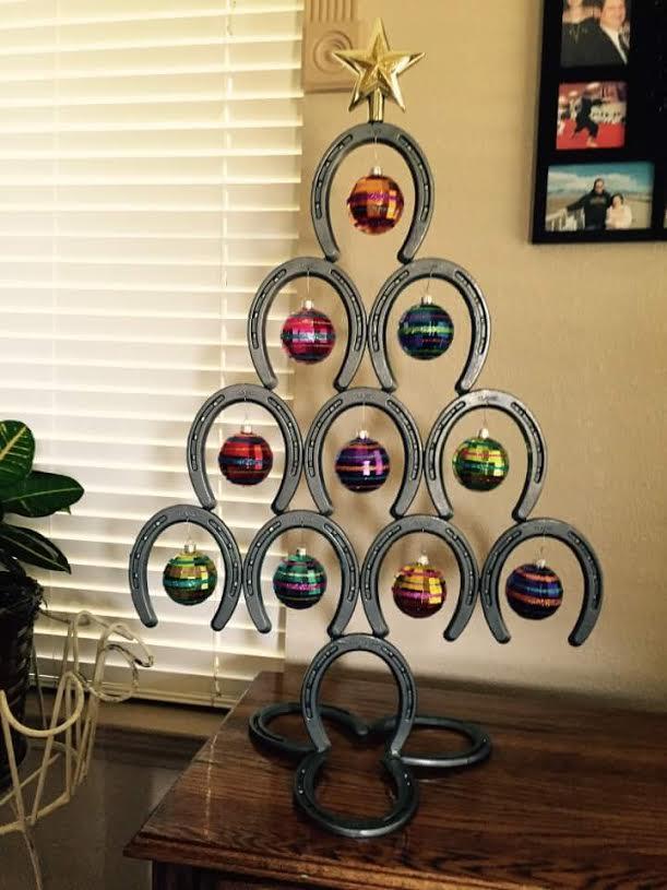 Horseshoe Cowboy Hat Rack Horseshoe Christmas tree. Includes shipping.